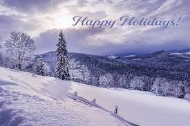holiday snow scene