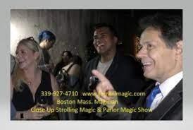 Boston Magician Joe Ferranti entertaining with magic.