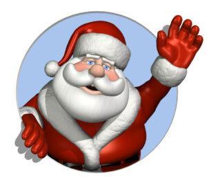 """Santa Clause waving """"Hi"""""""